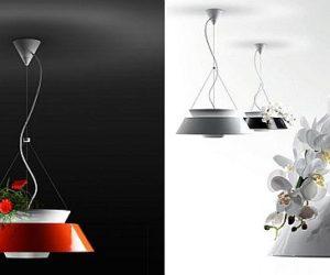 Flower pot pendant lamp