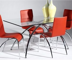... Modern Glass Dining Table