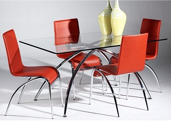 Lovely Modern Glass Dining Table Part 18