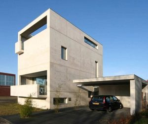 Van der Jeugd Architects' Concrete House in the Netherlands