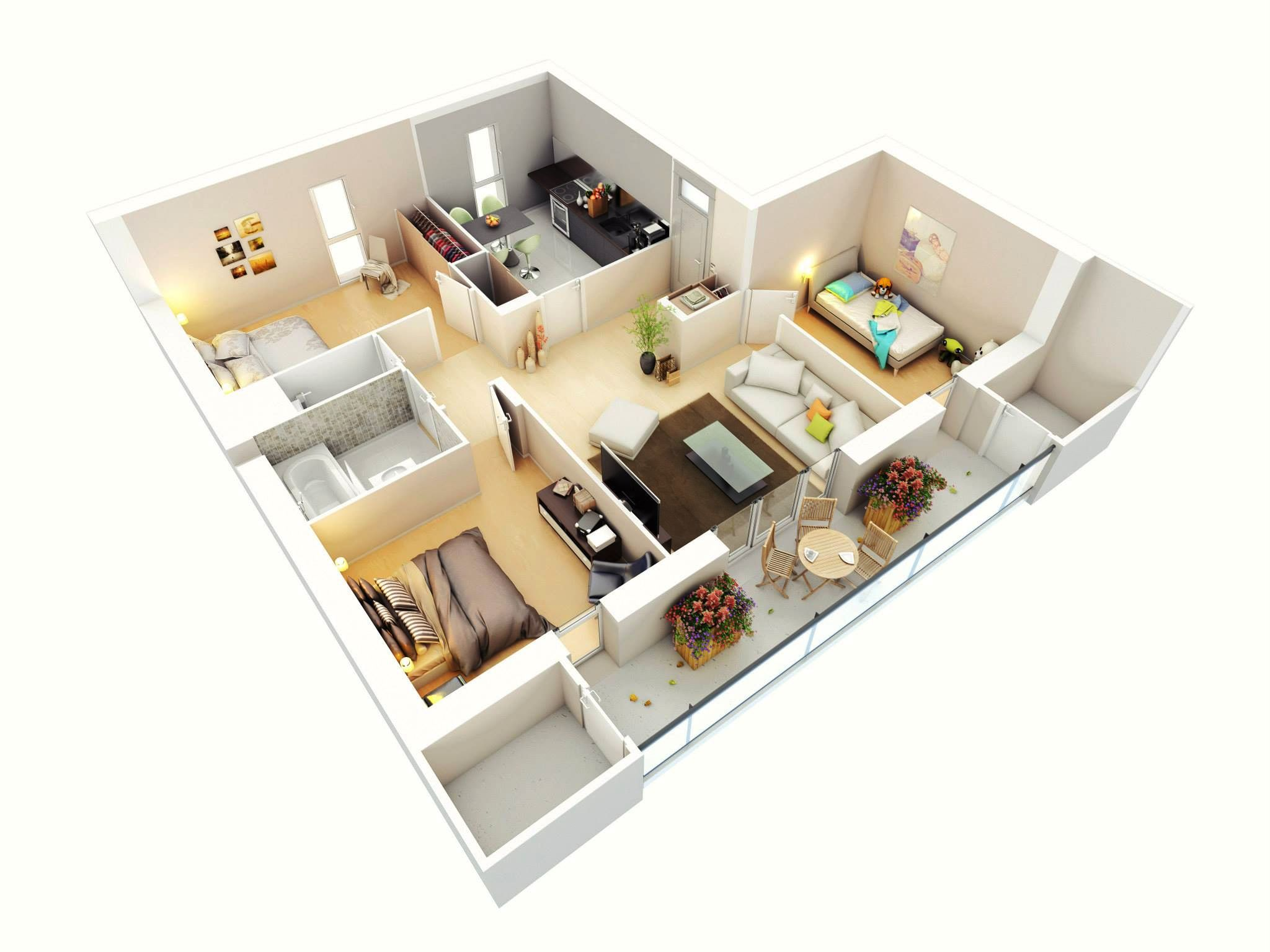 3 Bedroom Floor Plans.