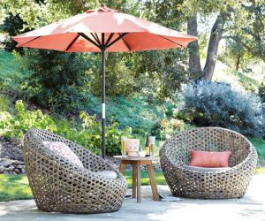 Modern Nest chair for outdoor use