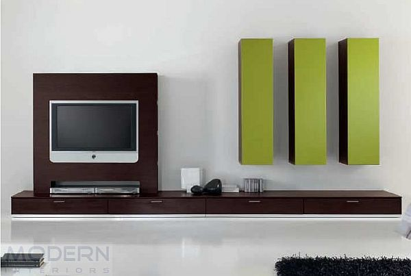 Modern And Colorful Wall Unit