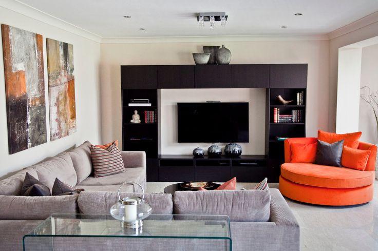 symmetrical design for living room furniture