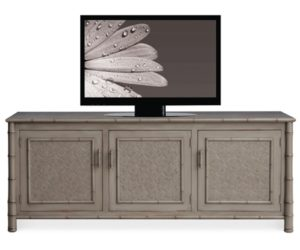 Faux Bamboo Entertainment Console
