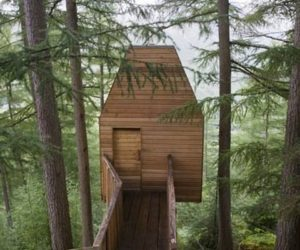 Artistic treehouse studio in Scotland