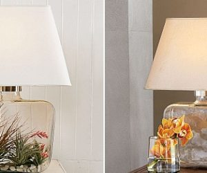 Personalized Atrium Glass Table Lamp
