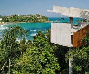 Superb Hanging House in Ubatuba, Brazil