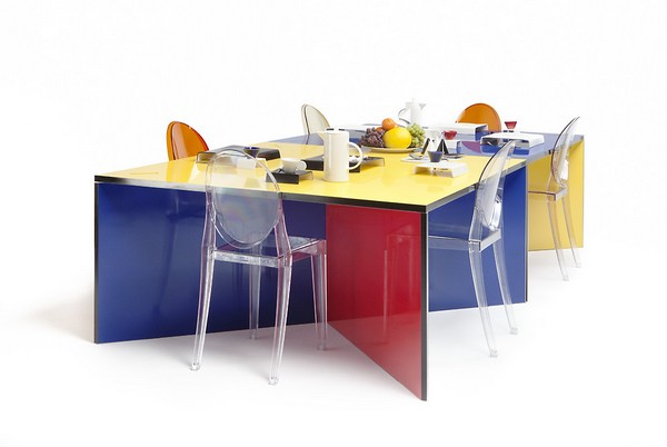 Attractive Modular And Colorful Dining Table Good Ideas