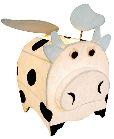 Flying cow lamp design for kids