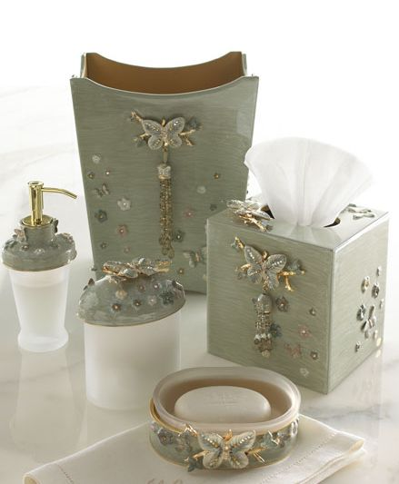 Superb Beautiful Papillion Bathroom Vanity Accessories