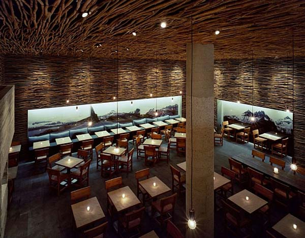 Wonderful Wood, Concrete And Twigs Restaurant Design By Sebastian Marsical  Studio