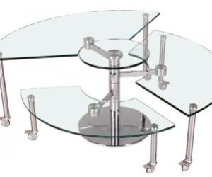 Puzzling glass coffee table