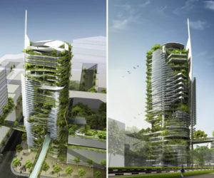 Eco-friendly skyscraper in Singapore
