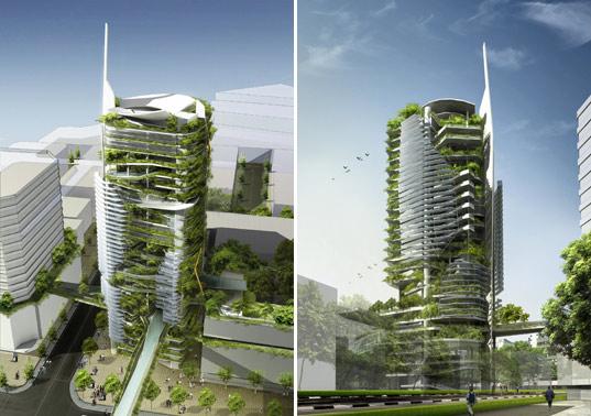 Eco Friendly Skyscraper In Singapore