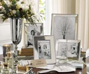 Classic Silver-Plated Frames from the Pottery Barn