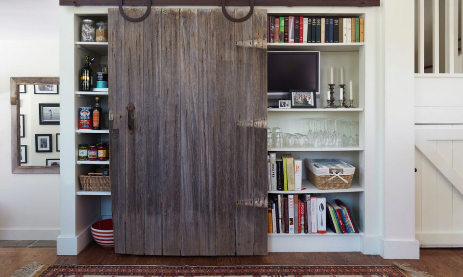 make storage more interesting with barn doors - Barn Doors For Homes