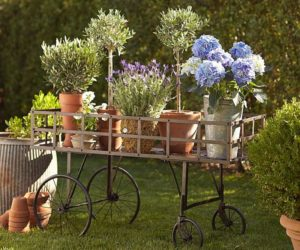 Metal push cart for your garden