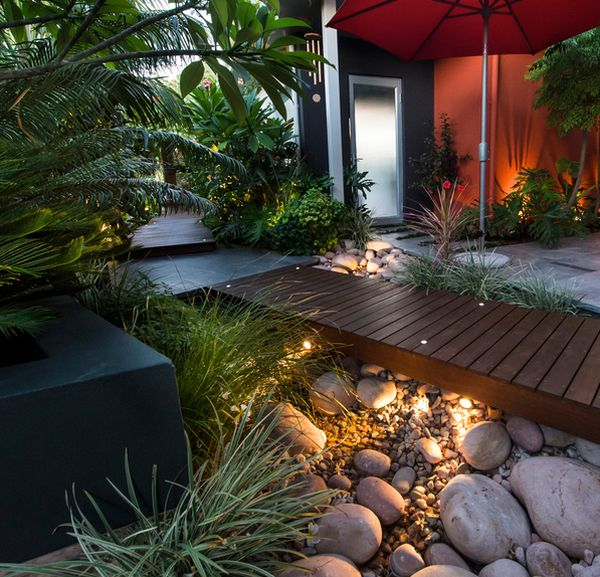 18 Beautiful Zen Garden Designs Ideas: How You Can Use Outdoor Lighting To Highlight Your Landscape