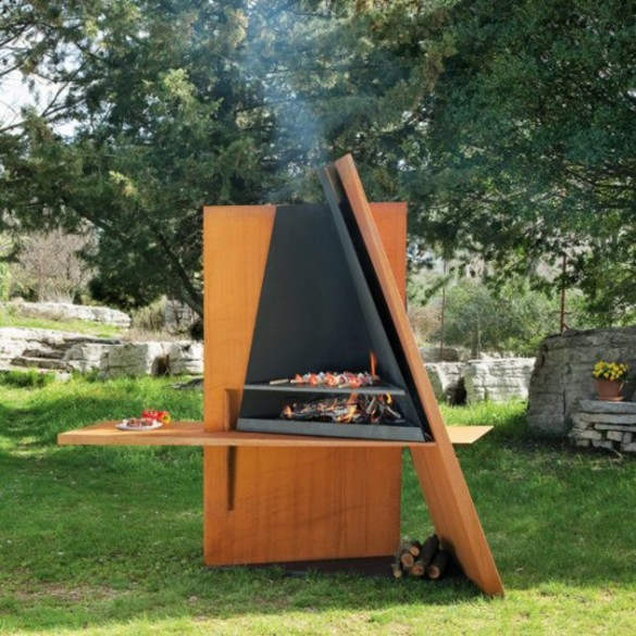 Superb Useful Sculpture Outdoor Grill Design From Focus
