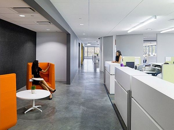 Belkin 39 s modern office interior design Interior design companies in san francisco
