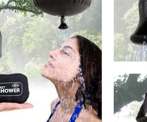 Handy pocket shower for outdoor adventures