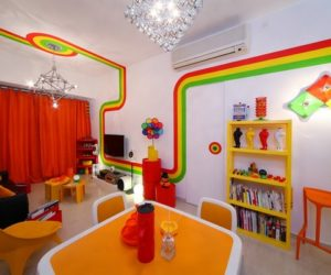 ... Colorful Fresh Apartment In Hong Kong