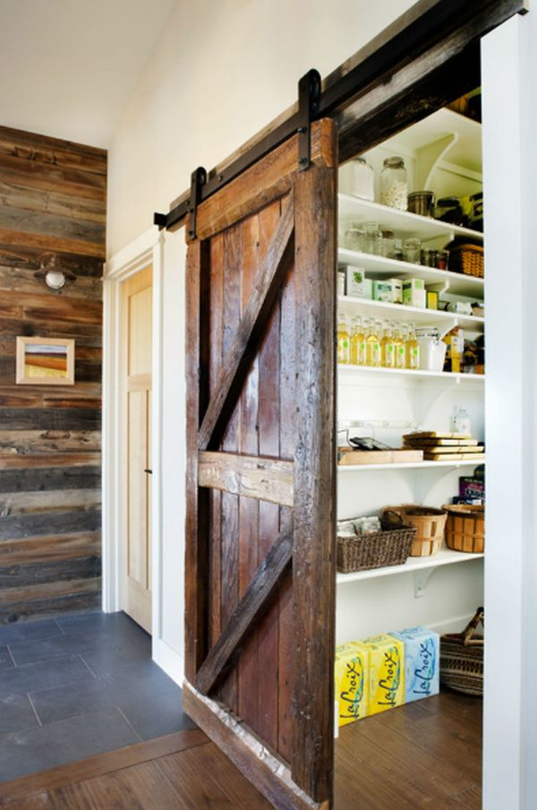 Add a barn door to your pantry.