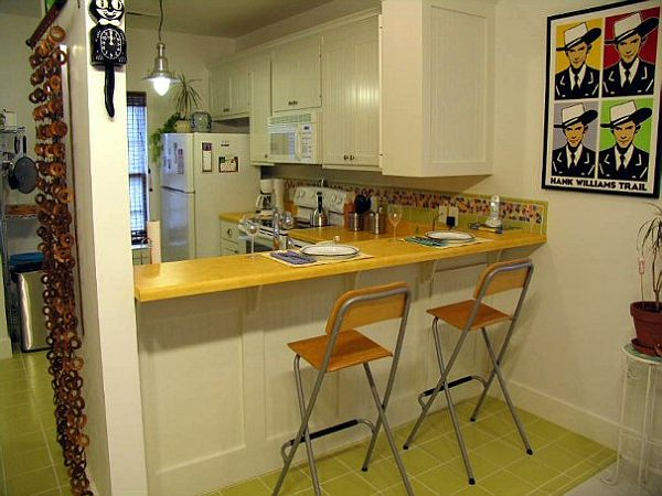Small Kitchen With Bar Design Ideas - Small kitchen bar