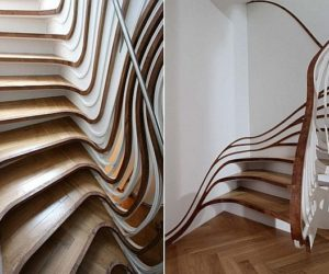 Natural Trippy Stairs Design from Atmos Studio