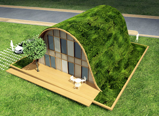 Relaxing Hill Shaped French Eco House By Patrick Nadeau
