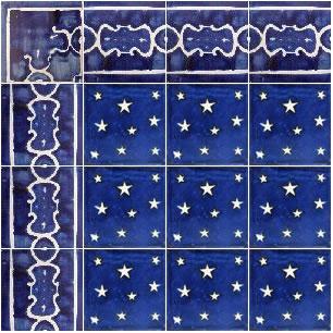 Estrellas Ceramic Talavera Mexican Tile