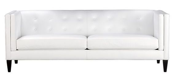 aidan white leather sofa view in gallery
