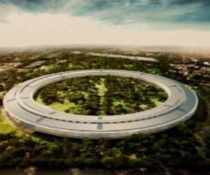 The new Apple Campus in Copertino, California