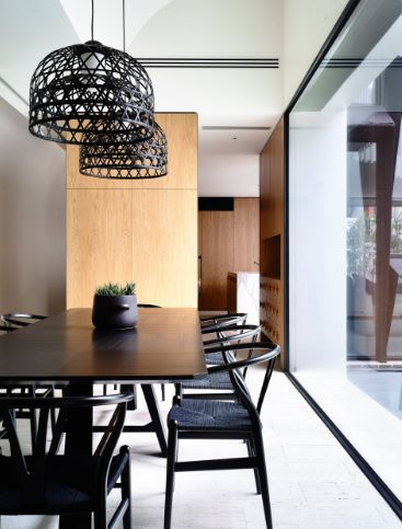 Black chairs for dining