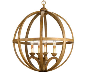 Rustic Axel Orb chandelier