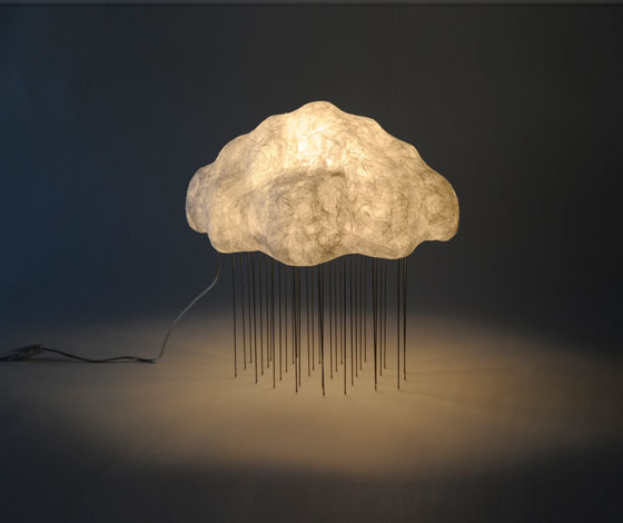 Refreshing Cloud Silver Rain Lamp By Tadao Shimizu
