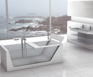 Elegant Avi- Corian Bathroom by Plavisdesign