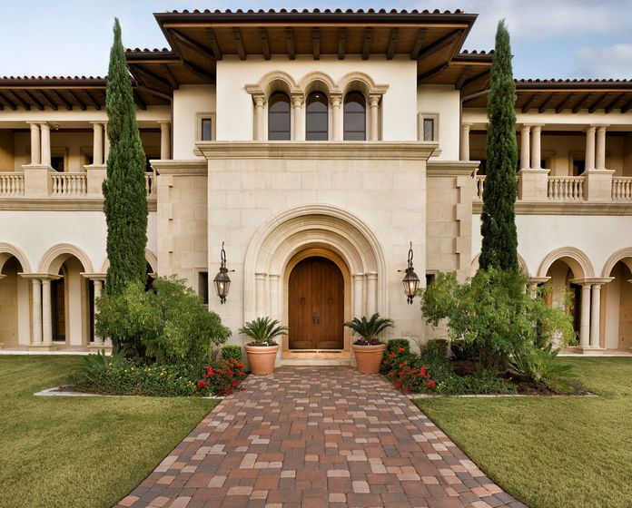How to give your house a mediterranean feel for Mediterranean style exterior