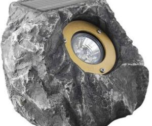 Rock-shaped solar light for the garden