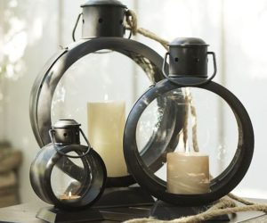 Simple and functional metal lanterns