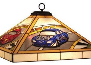 Racing pendant light for kids room
