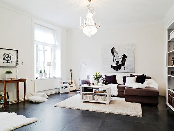 Another scandinavian style apartment for Wohnzimmer scandi style