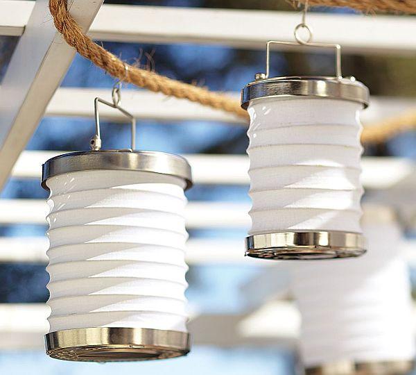Accordion Lanterns For The Garden