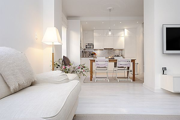 Amazing apartment with total white look for Arredare casa in bianco