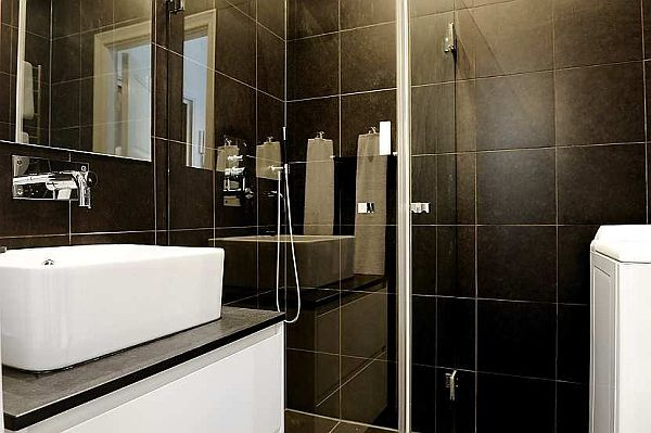 Amazing View In Gallery With Black And White Small Bathrooms