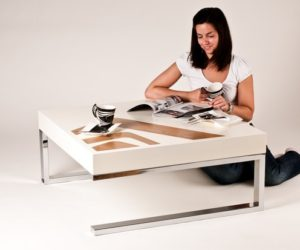 Contemporary WoodGloo table to set the mood in your home