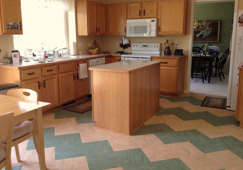 Shopping for linoleum how to choose the right type for Linoleum kitchen flooring