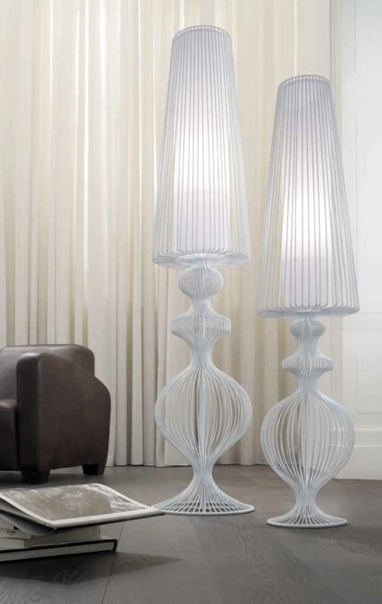 Oversized Floor Lamp elegant and stylish wire shade lamps