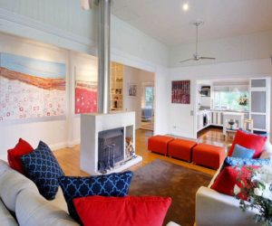 Colorful And Dynamic Beach House Interior Design · Beautiful House With  Red, White And Blue View